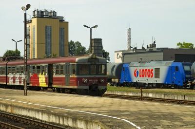 Pociąg elektryczny w Lesznie