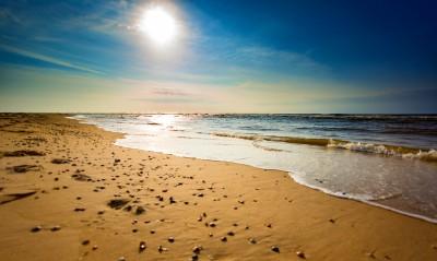 Plaża nad Morzem Północnym