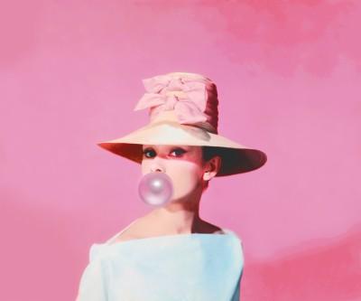 Audrey Hepburn z balonem