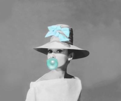 Audrey Hepburn z balonówką