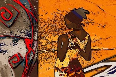 Zamyślona Afrykanka