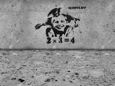 Banksy Pipi Langstrumpf 2+3=4