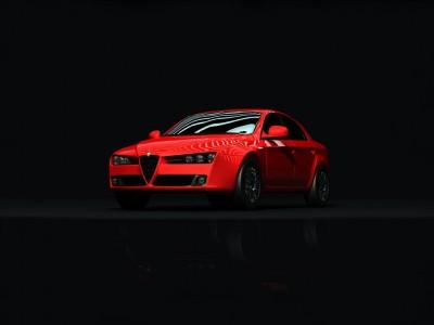 Czerwone Alfa Romeo