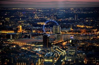 Londyn w nocy