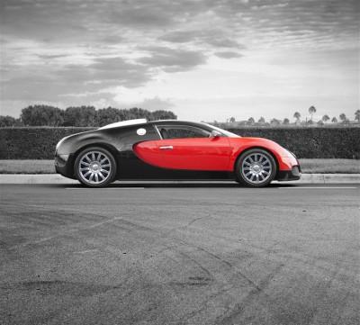 Czerwone Bugatti