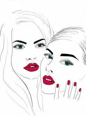 Dziewczyny z czerwonymi ustami