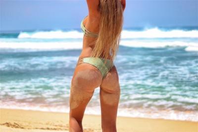 Laska na plaży