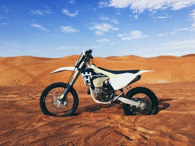 Motocykl na pustyni
