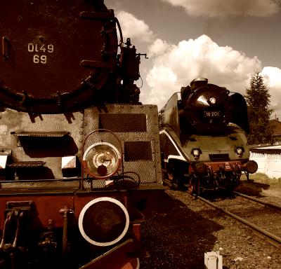Parowozy z Wolsztyna Ol 49-69 i 18-201