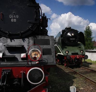 Ciuchcie z Wolsztyna Ol49-69 i 18-201
