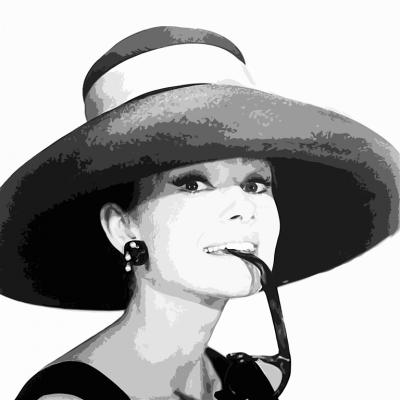 Audrey Hepburn z kapeluszem
