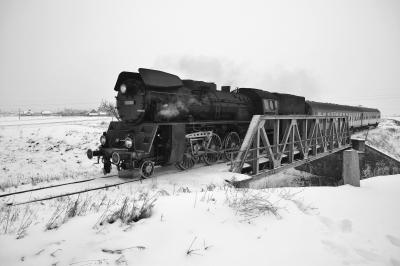 Skład Ol49-59 podczas przewozu osób