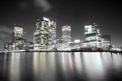Czarno-biała fotografia z Londynu