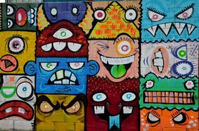 Graffiti młodzieżowe Buźki