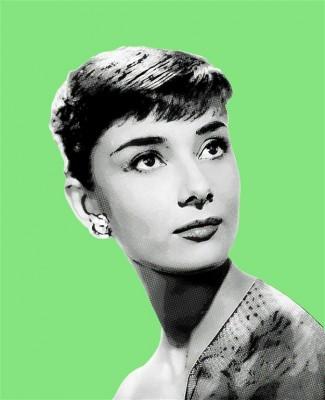 Zielony portret Audrey Hepburn