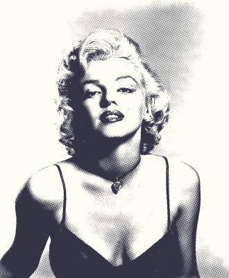 BG760 Marilyn Monroe - Plakat w starym stylu