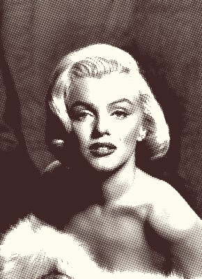 BG761  Marilyn Monroe - Plakat w stylu Vintage