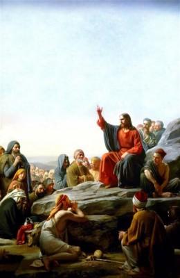 Jezus na skale 8 błogosławieństw