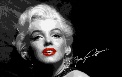 Marilyn Monroe z aufografem