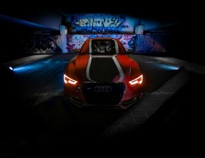 Czerwone Audi Graffiti