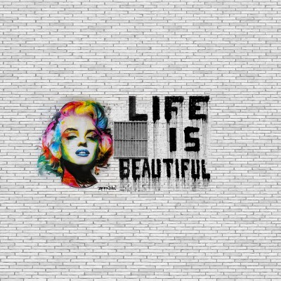 Banksy Life is beautiful Marilyn Monroe