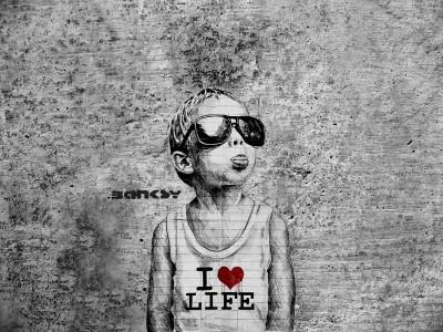 Banksy I Love Life