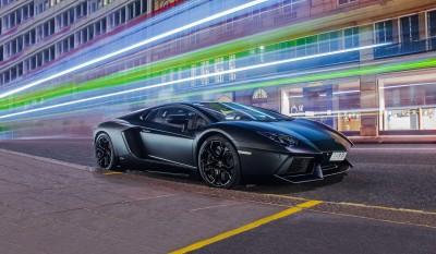 Lamborghini w nocy