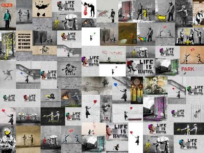 Kolaż Banksy