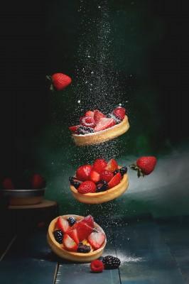 Deser ze świeżych truskawek