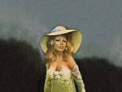 Brigitte Bardot w kapeluszu