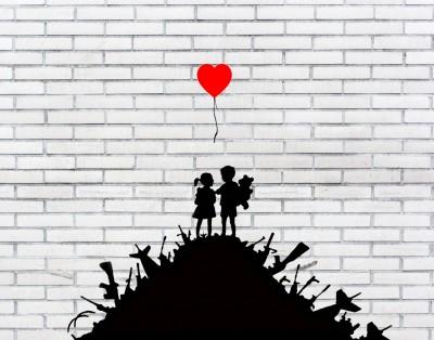 Banksy Dzieci na stercie broni