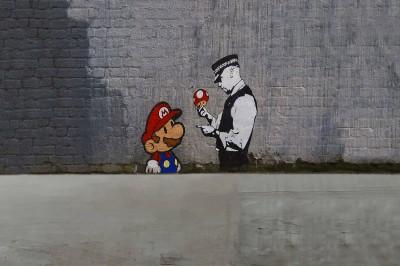 Banksy Grzybiarz