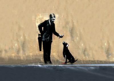 Banksy Dobry piesek